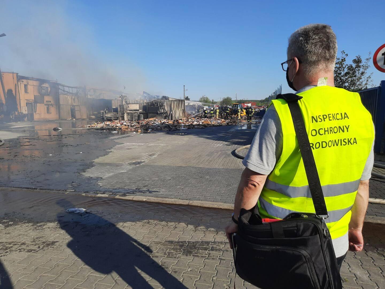 Pożar odpadów opakowaniowych w Grudziądzu