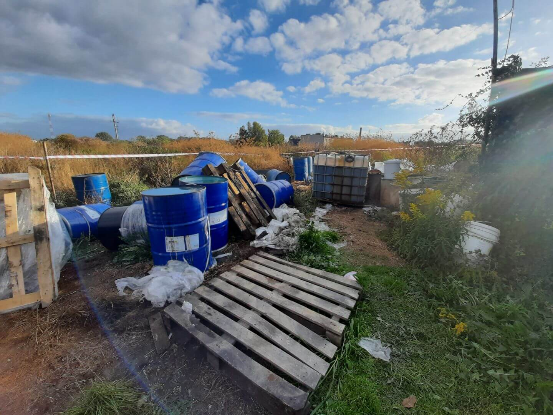 Niewłaściwe gospodarowanie odpadami w m. Strzelno